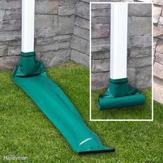 Downspout extension prevents water damage